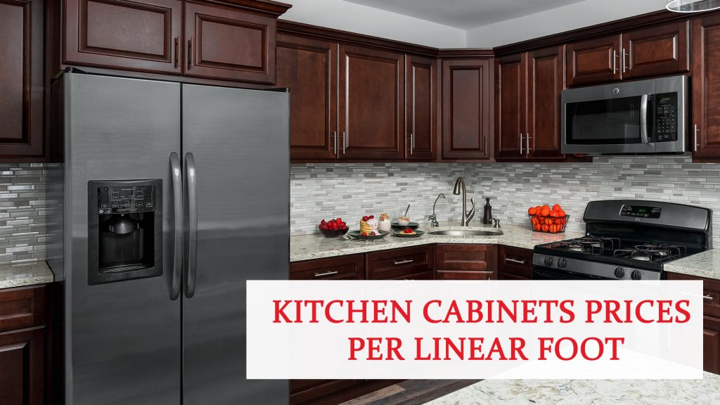 Kitchen cabinets prices per linear foot