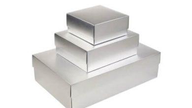 Sliver foil boxes