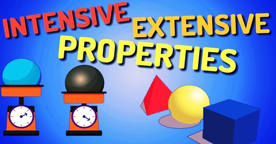 Dissimilarities In Intensive & Extensive Properties